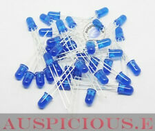50PCS , Blue 5mm diffused led