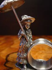 Silver Pewter LITTLE GIRL with Parasol Napkin Ring ~ Buy One or Many