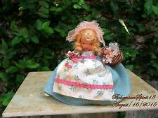 1930's NANCY ANN VINTAGE STORYBOOK MARY CONTRARY BISQUE JOINTED ARMS  DOLL