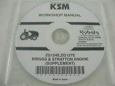 Genuine Kubota Service Manual ZG124E, ZG127E BRIGGS & STRATTON ENGINE SUPPLEMENT