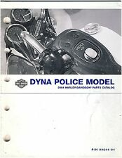 "Harley Davidson Used 2004 Dyna ""Police""   Parts Catalog"