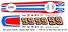 #99 Bob Larivee Chevelle 1/25th - 1/24th Scale Waterslide Decals