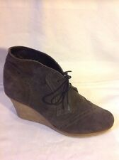 River Island Dark Grey Ankle Suede Boots Size 7