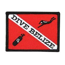 """Scuba Souvenir """"Dive Belize"""" Travel Patch Vacation Destination Iron-On Applique"""