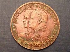 1901  Portugal King Carlos I Royal visit to the Azores bronze medal
