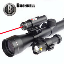 Bushnell Rifle Scope 3-9x40 RED Green Illuminated Duplex Reticle + Laser+Torch A