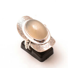 Solid 925 Sterling Silver Extraordinary Moonstone Fashionable Ring Jewelry