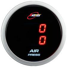 52mm Digital Dual Air Pressure Press Gauge Meter RED LED Display PSI/BAR