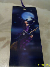 bookmarker 3d with a witch on a broomstick  great quality item.