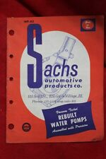VTG Sachs Automotive Products Vaccume Tested Rebuilt Water Pumps Catalog  (60)