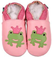shoeszoo frog pink 12-18m S soft sole leather baby shoes