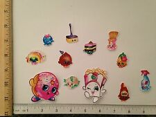 12 Lg Sm Shopkins Characters Fabric Applique Iron On Ons D'lish Donut Poppy Corn