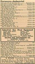1946 Furnaces W Sheridan Rd Chicago Eclipse Fuel Rockford Ad