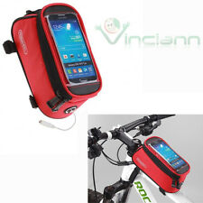 Borsa custodia bicicletta 12496L-C5 touch ROSSA per HTC One M8 M8s mountain bike