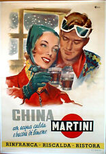 "TARGA VINTAGE ""CHINA MARTINI"" PUBBLICITA', LIQUOR ADVERTISING, POSTER, PUB PLATE"