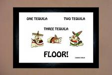 "GEORGE CARLIN - TEQUILA DRUNK JOKE FRAMED A4 12""X8"" PHOTO POSTER PRINT ALCOHOL"