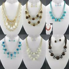 100 PC WHOLESALE LOT FASHION JEWELRY NECKLACE EARRINGS