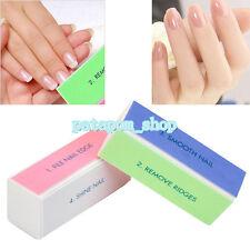 5Pcs/Set Foam Nail Art Manicure 4 Way Shiner Buffer Buffing Block Sanding File P