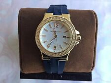 Michael Kors MK2490 Women's Mini Dylan Sporty Navy Blue Silicone Gold tone Watch