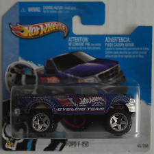 "HOT Wheels -'97/1997 FORD f-150 pickup blaumet. ""HW Cycling Team"" Nuovo/Scatola Originale"