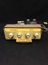 Vintage High Fidelity Quality Inc Tube Amplifier Amp