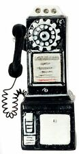 Dollhouse Miniature - 1950'S Style Pay Phone - Black