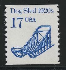 US Scott #2135, Single 1986 Dog Sled 1920s 17c VF MNH