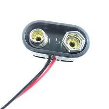 9V Block Batterie Anschluss Clip T-Form mit Kabel 6F22 Steckverbinder