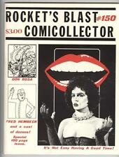 Rocket's Blast Comicollector #150 F/VF Rocky Horror cover and article