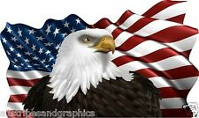 36X60 American Flag Eagle #2 Window RV Trailer Decal Decals Graphics Wall Art
