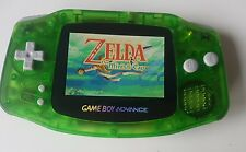 Nintendo Gameboy Advance Console Clear Green backlight AGS 101 - New Glass Lens