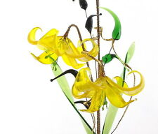 Valentines Gift For Wife Girlfriend Romantic Decoration Yellow Glass Flower Hot