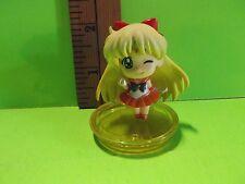 """Sailor moon Venus Anime Blonde Hair Cutie Orange Skirt 2.25""""in Figure"""