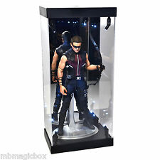"Acrylic Display Case LED Light Box for 12"" 1/6th Scale Avengers HAWKEYE Figure"
