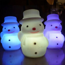 7Color Cute Ornaments Snowman Changing Night Light LED Lamp Christmas Gift Decor