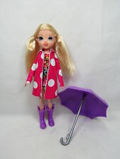 "MGA Moxie Girls 10"" Avery Doll w/ Rain Outfit & Umbrella Great Gift! OSB AJ"