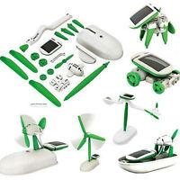 Innovative DIY 6 in 1 Educational Power Solar Energy Robot Kit Children Kid Toys