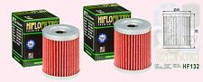 2x HF132 Oil Filter Suzuki LTZ LTZ250     LT-Z250  Quadsport  2004 to 2009