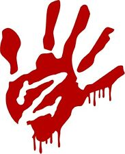 1 Zombie Red Blood Hand Decal Sticker Z Outbreak Response Team Hunter 1269