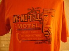 We-No-Tell Motel Oceanside, CA T-Shirt Size M NWT FUNNY Hourly Rates