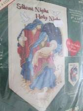 Silent Night Nativity Banner Cross Stitch Kit #8583-8x14 Inches (20x36cm) Dimens