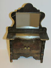 Rare Antique Collectable Victorian Wooden 'Dresser' Money Box