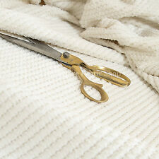 Plush New White Super Fluffy Textured Cord Quality Durable Upholstery Material
