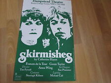 SKIRMISHES  inc  Frances de la Tour & G Taylor HAMPSTEAD Theatre Original Poster