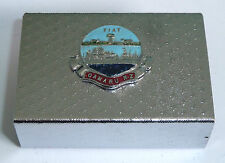 A VINTAGE 1940s CHROME PLATED MATCH BOX HOLDER WITH OAMARU NZ ENAMEL PLAQUE