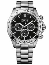 NEW HUGO BOSS 1512965 MENS STAINLESS STEEL CHRONOGRAPH WATCH - 2 YEAR WARRANTY