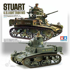TAMIYA 1/35 M3 STUART LIGHT TANK PLASTIC MODEL KIT