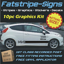 FORD FIESTA MK 7 ST STRIPES CAR VINYL GRAPHICS DECALS 1.1 1.2 1.3 1.4 1.6 1.8 D