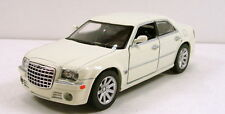 "NewRay Chrysler 300C Hemi 1:32 scale 6"" diecast model sedan car White #137"