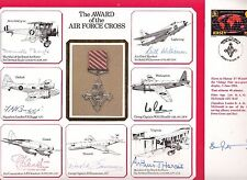 1984 RAF. LARGE COVER THE AWARD OF THE AIR FORCE CROSS 7 SIGNATURES